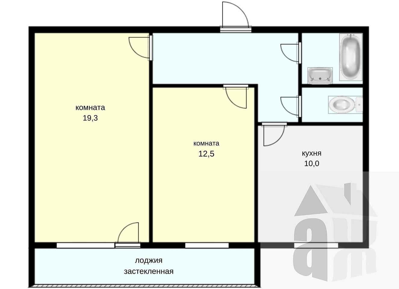2-комнатная квартира, Томск, Айвазовского, 31