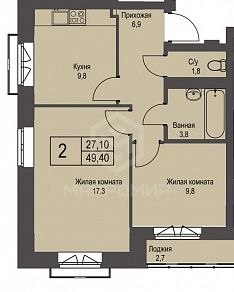 Охотская, 3, 2-комнатная квартира