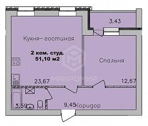 пер. 2-й Экскаваторный, 3, 2-комнатная квартира