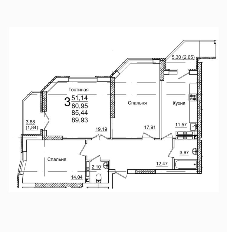 Продам 3-комнатную квартиру в городе Энгельс, на улице Шурова Гора, 7, 9-этаж 25-этажного  дома, площадь: 80/51/11 м2