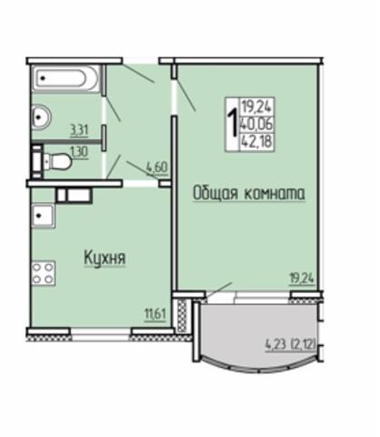 Продам 1-комнатную квартиру в городе Саратов, на улице Академика Семенова, 9, 9-этаж 10-этажного Панель дома, площадь: 42/19/11 м2