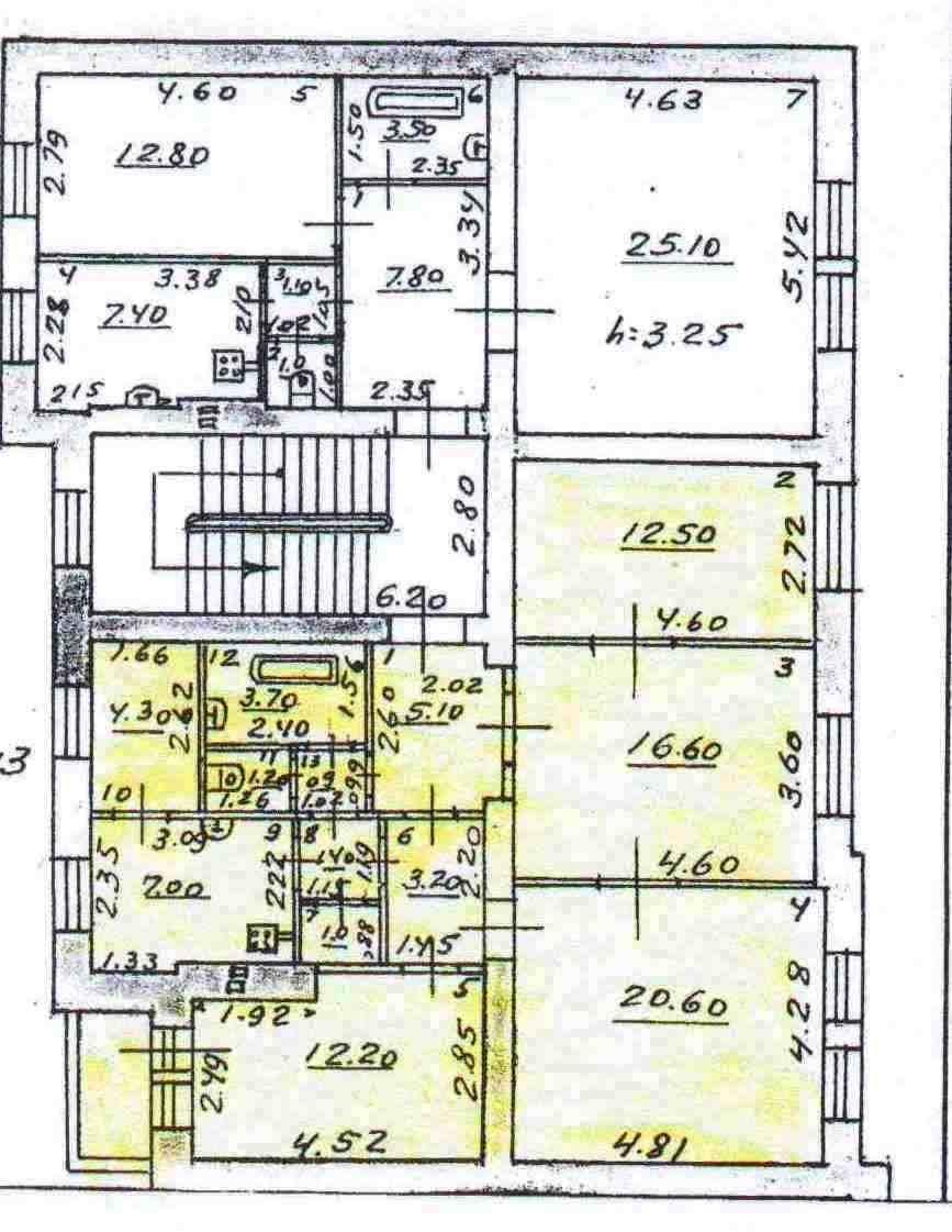 Продам 4-комнатную квартиру в городе Саратов, на улице Советская, 20, 2-этаж 5-этажного Кирпич дома, площадь: 89/61/11 м2