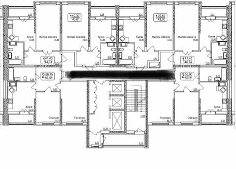 Продам 2-комнатную квартиру в городе Саратов, на улице Чернышевского, 80, 16-этаж 25-этажного Монолит дома, площадь: 59/30/12 м2