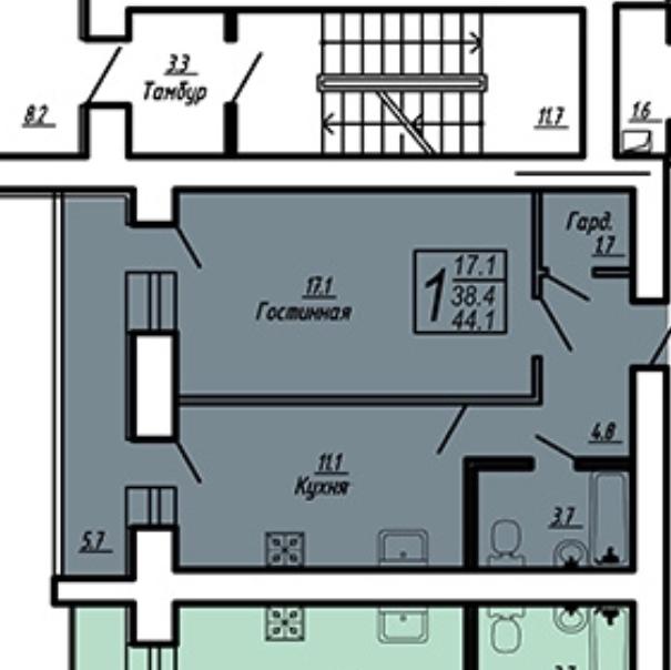 Продам 1-комнатную квартиру в городе Саратов, на улице Блинова, 50, 1-этаж 0-этажного  дома, площадь: 44/17/11 м2
