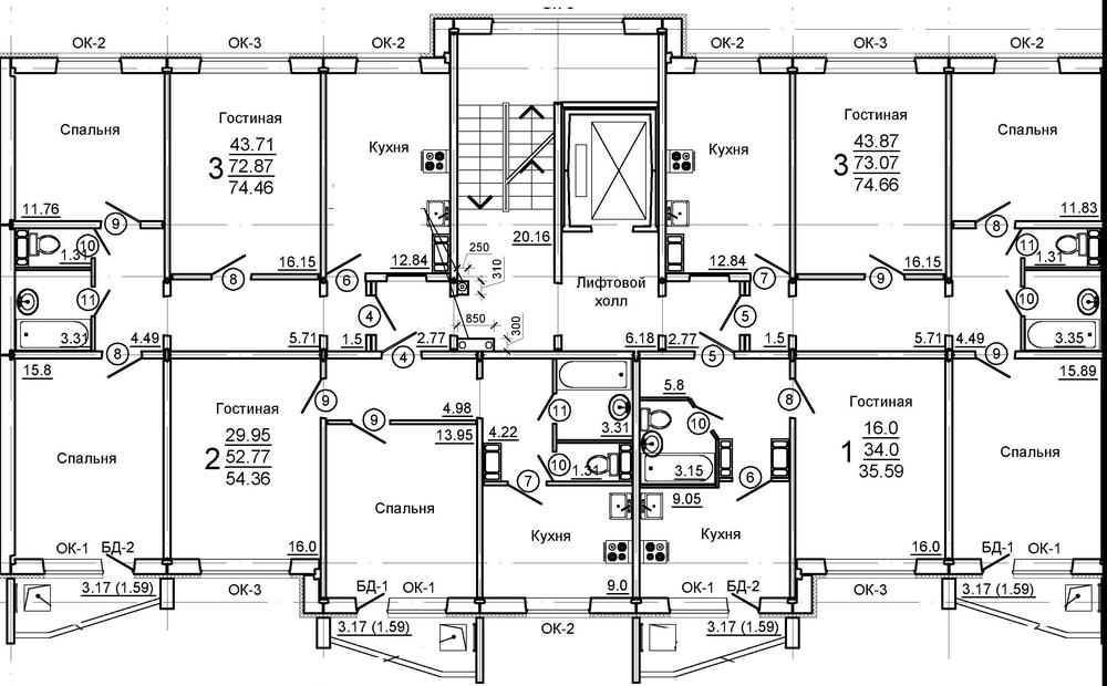 Продам 3-комнатную квартиру в городе Саратов, на улице Романтиков, 48, 7-этаж 10-этажного Монолит дома, площадь: 72/60/12 м2