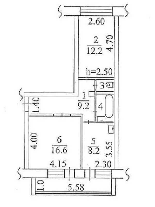 Сокур, кв-л 7-й, 10, 2-к квартира