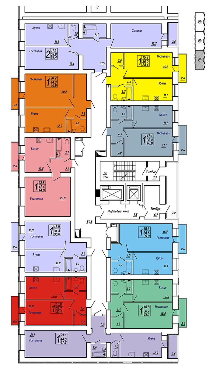 Продам 2-комнатную квартиру в городе Саратов, на улице Блинова, 50, 1-этаж 14-этажного Кирпич дома, площадь: 62/31/11 м2