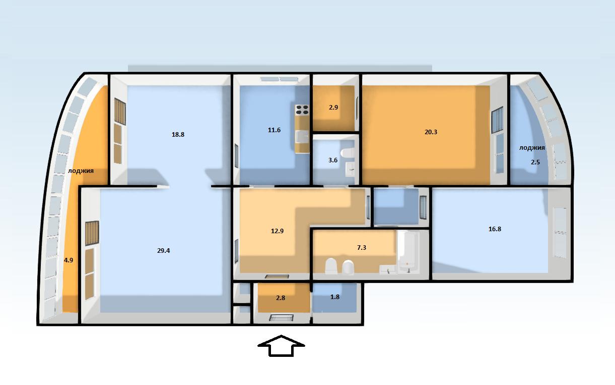 Продажа 4-комнатной квартиры, Екатеринбург