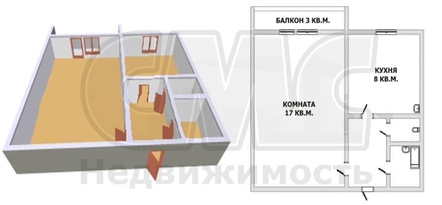 Объявление 16165585 - продажа однокомнатной квартиры в Челяб.