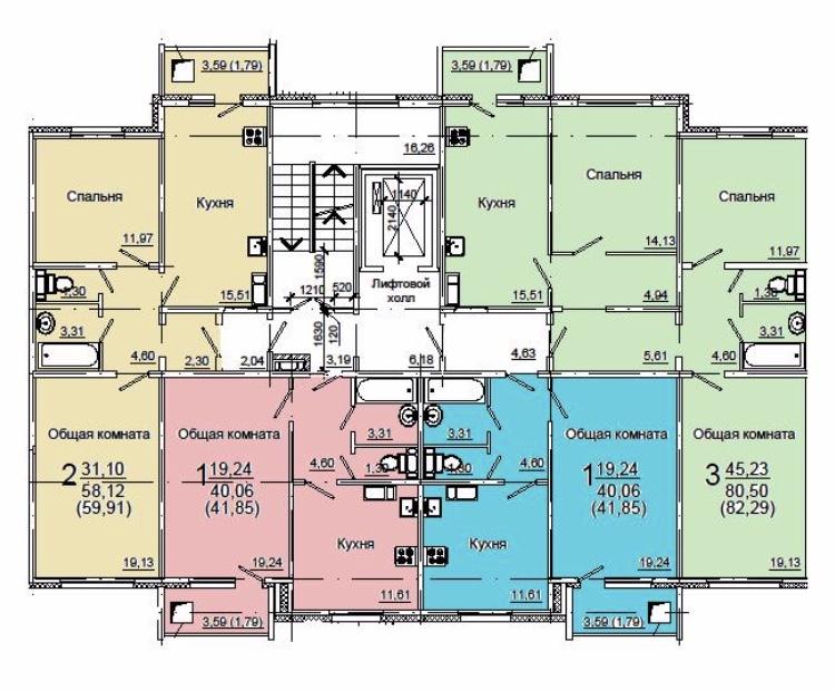 Продам 3-комнатную квартиру в городе Энгельс, на улице Химиков, 3, 6-этаж 10-этажного Панель дома, площадь: 80/45/15 м2