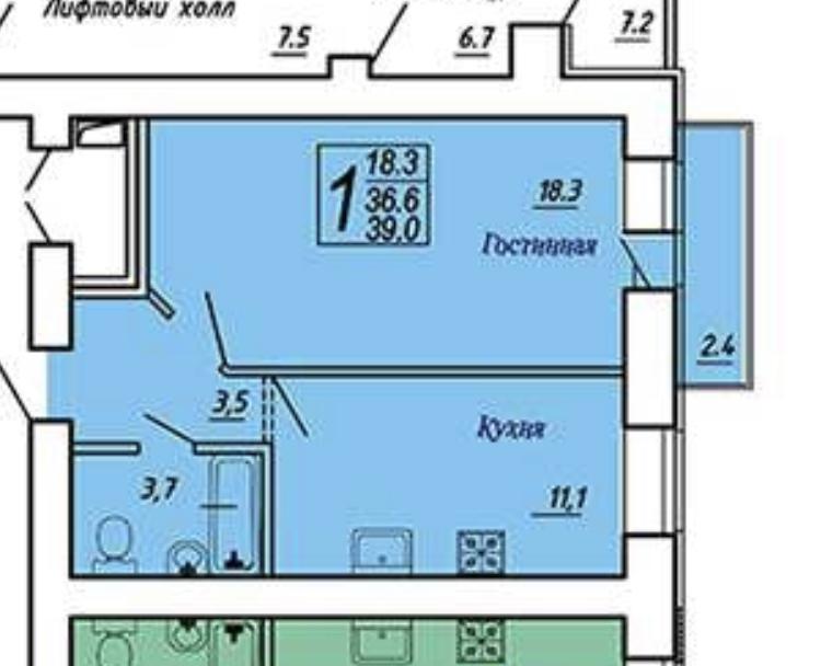 Продам 1-комнатную квартиру в городе Саратов, на улице Блинова, 50, 9-этаж 14-этажного Кирпич дома, площадь: 39/18/11 м2
